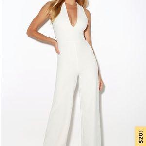 White Lulus Jumpsuit